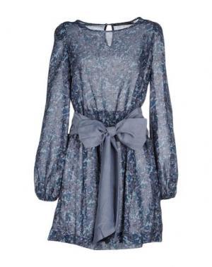 Короткое платье LA CAMICIA BIANCA. Цвет: серый