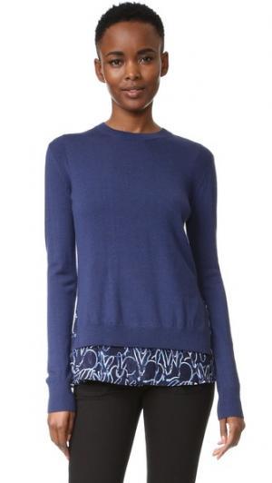 Пуловер с принтом в виде кролика Grey Jason Wu. Цвет: морской/морской комбо