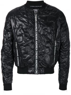 Куртка-бомбер со стеганым эффектом Andrea Crews. Цвет: чёрный