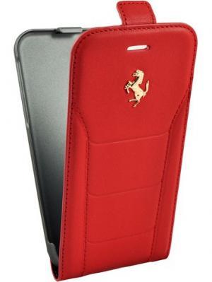 Чехол для iPhone 7 488 (Gold) Flip Leather Red FERRARI. Цвет: красный