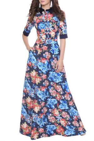 Платье Olivegrey. Цвет: сине-голубой