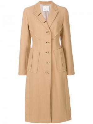 Пальто в стиле милитари 3.1 Phillip Lim. Цвет: телесный