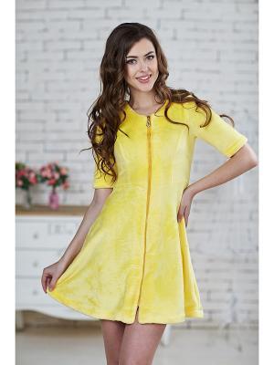 Халат женский AnGela. Цвет: желтый