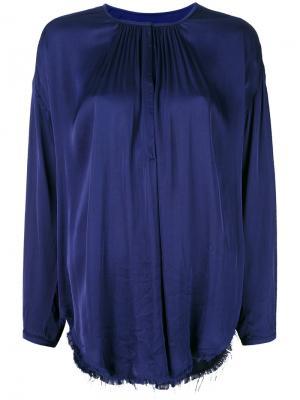 Блузка с оборками Raquel Allegra. Цвет: синий