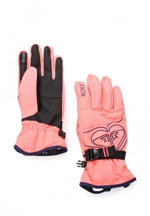 Перчатки горнолыжные Roxy. Цвет: розовый
