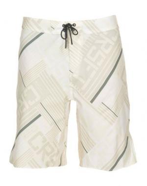 Пляжные брюки и шорты REEBOK. Цвет: слоновая кость