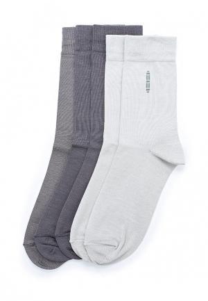 Комплект носков 5 пар John Jeniford. Цвет: серый