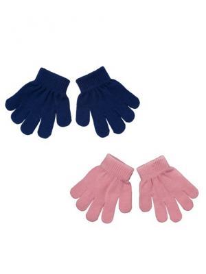 Перчатки PlayToday. Цвет: розовый, синий
