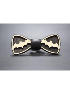 Деревянная галстук-бабоча Farfalla-rus. Цвет: черный