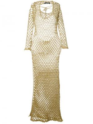 Ажурное платье Sibling. Цвет: белый