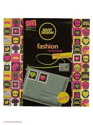 Набор шьем сумочку Письмо салатовая NEON Daisy Design. Цвет: черный
