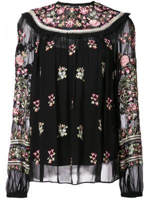 Floral embroidered blouse Needle & Thread. Цвет: чёрный