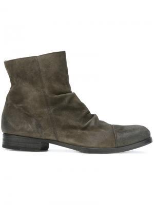 Ботинки с мятым эффектом  Fiorentini + Baker. Цвет: серый