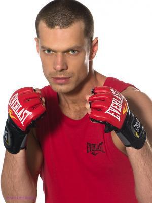 Перчатки тренировочные Everlast. Цвет: красный