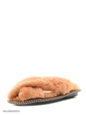 Тапочки Mon Ami. Цвет: коричневый