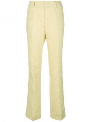 Прямые брюки Marni. Цвет: жёлтый и оранжевый