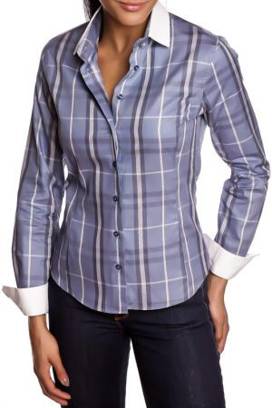 Рубашка GAZOIL. Цвет: синий