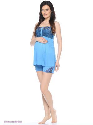 Комплект для беременных и кормящих FEST. Цвет: голубой