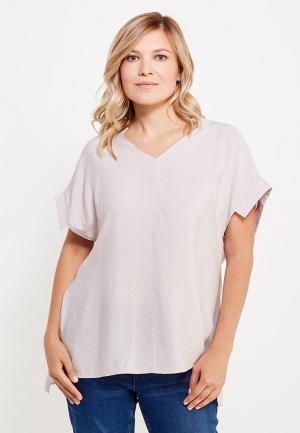 Блуза Ulla Popken. Цвет: бежевый