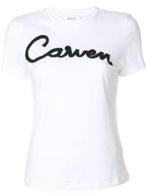 Футболка с аппликацией логотипа Carven. Цвет: белый