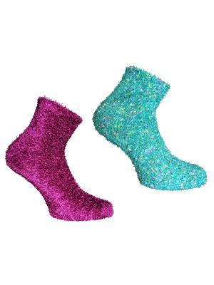 Носки, 2 пары Master Socks. Цвет: бирюзовый, фуксия