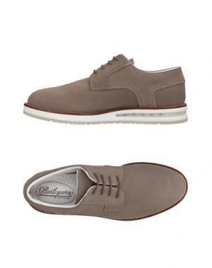 Обувь на шнурках BARLEYCORN. Цвет: голубиный серый