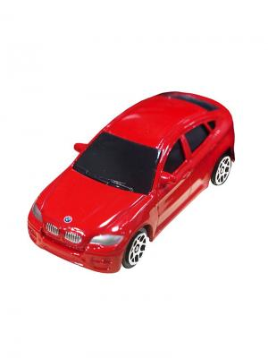 Машинка BMW X6, Красная (1:64) (PS-344002S-R) Pit Stop. Цвет: красный