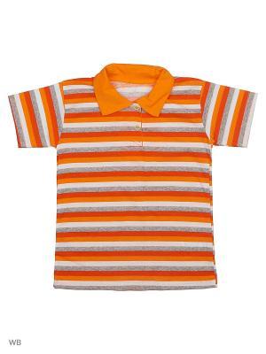 Рубашка-Поло Babycollection. Цвет: оранжевый