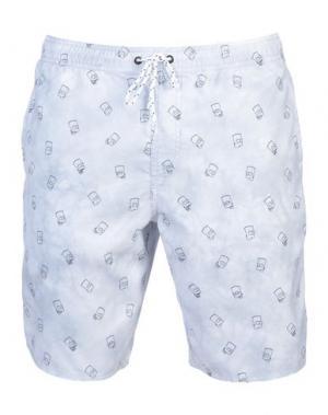 Пляжные брюки и шорты NEFF. Цвет: светло-серый