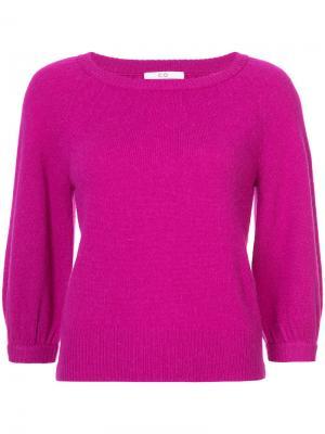 Классический приталенный свитер Co. Цвет: розовый и фиолетовый