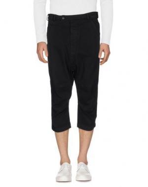 Джинсовые брюки-капри NOSTRASANTISSIMA. Цвет: черный