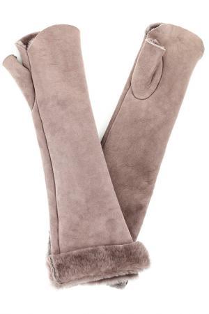 Перчатки Nina Ricci. Цвет: розовый