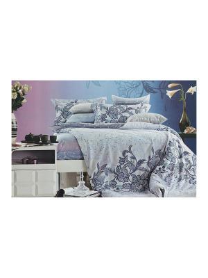Комплект постельного белья, Селеста, Евро KAZANOV.A.. Цвет: голубой