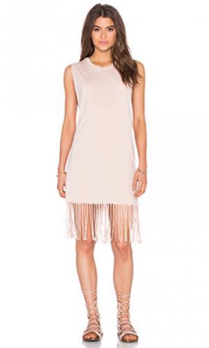 Платье в горошек Michael Lauren. Цвет: румянец
