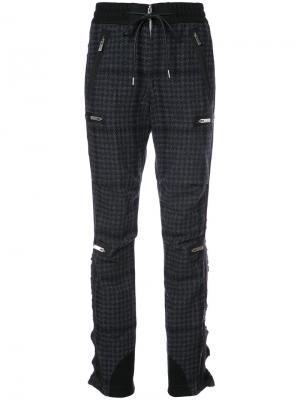 Houndstooth bondage trousers Sacai. Цвет: синий
