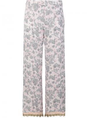 Пижамные брюки с принтом кроликов Prada. Цвет: многоцветный