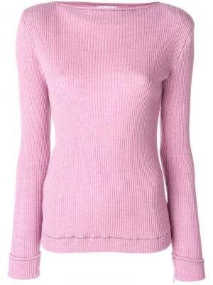 Джемпер в рубчик Veronique Leroy. Цвет: розовый и фиолетовый