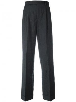 Зауженные брюки со складками Philosophy Di Lorenzo Serafini. Цвет: серый