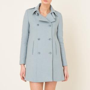 Пальто CYRUS BA&SH. Цвет: небесно-голубой