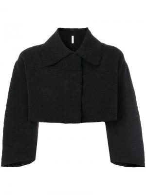 Укороченная структурированная куртка Boboutic. Цвет: чёрный