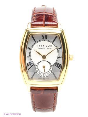 Часы SFVC 007 XSA HAAS & Cie. Цвет: темно-коричневый, серебристый, золотистый, белый