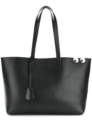 Eyes shopping bag Anya Hindmarch. Цвет: чёрный
