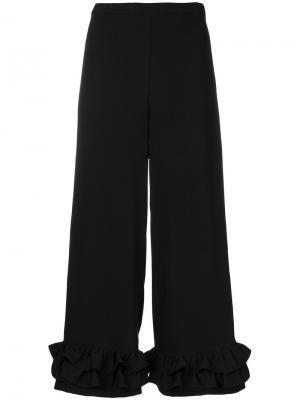 Широкие брюки с оборками Vivetta. Цвет: чёрный
