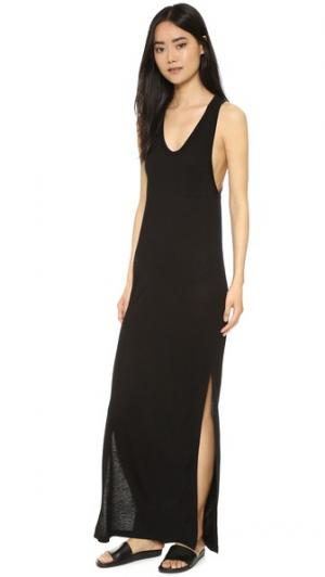 Классическое платье без рукавов с карманом T by Alexander Wang. Цвет: голубой