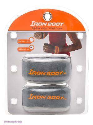 Утяжелители круглые 2х0,5кг Iron Body. Цвет: серый