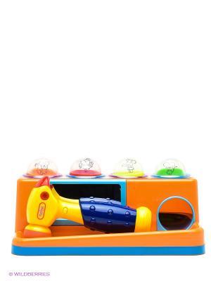 Игра развивающая Забей мячик VELD-CO. Цвет: оранжевый, желтый, синий, зеленый, голубой, красный