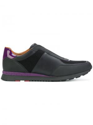 Кроссовки на шнуровке Bally. Цвет: чёрный