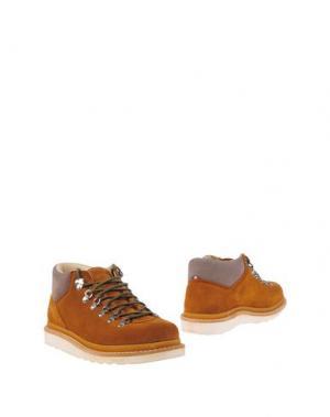 Полусапоги и высокие ботинки DIEMME. Цвет: верблюжий