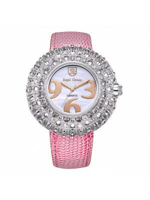 Часы Royal Crown. Цвет: розовый, серебристый