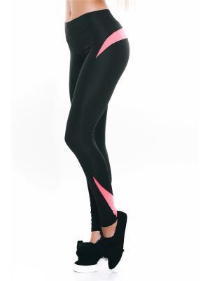 Леггинсы Issa Plus. Цвет: черный, розовый